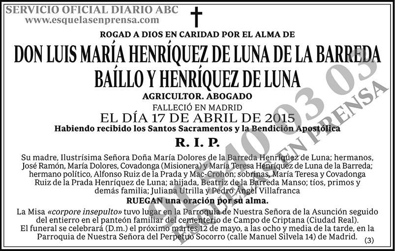 Luis María Henríquez de Luna de la Barreda Baíllo y Henríquez de Luna